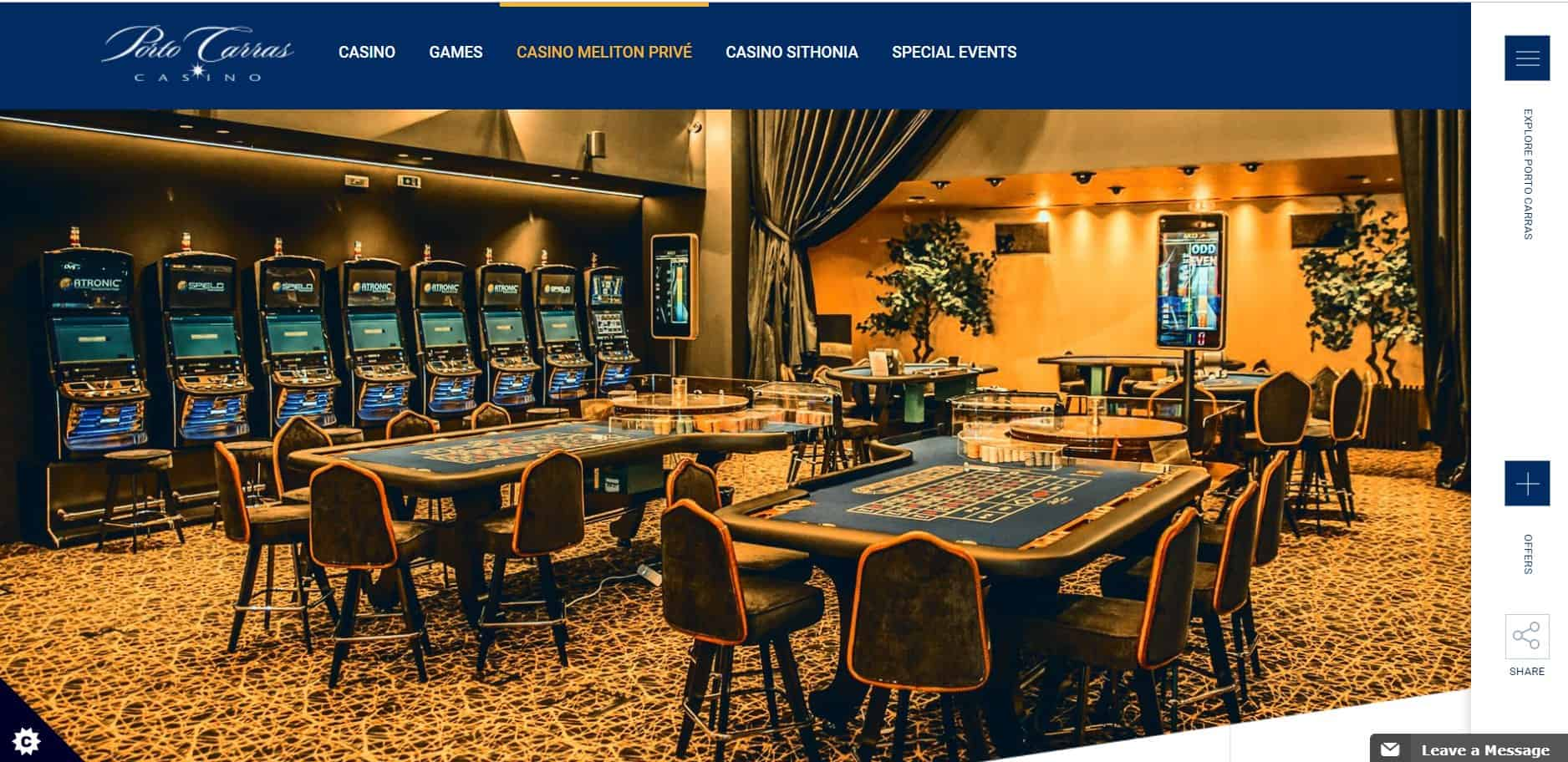 Porto Carras Casino Homepage