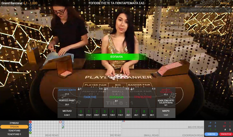 Το Live Baccarat της Playtech