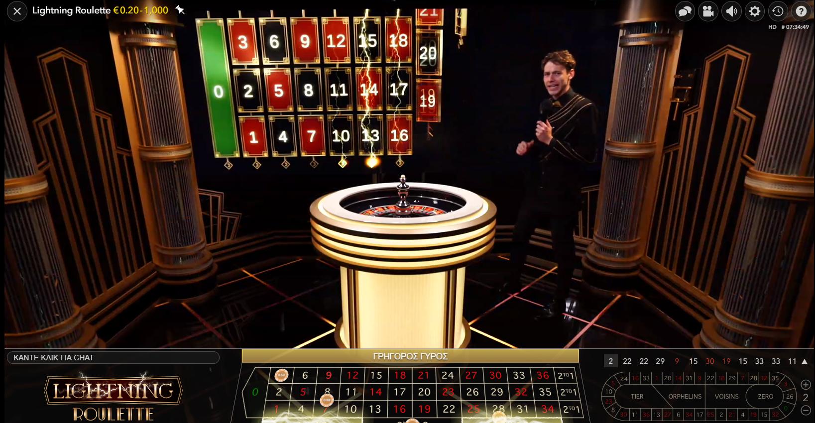 Οι κεραυνοί στην οθόνη κρύβουν ευκαιρίες για περισσότερα κέρδη στη Lightning Roulette